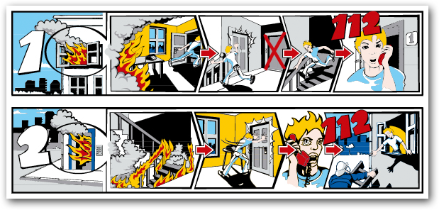 mieterinfo zum richtigen verhalten im brandfall. Black Bedroom Furniture Sets. Home Design Ideas